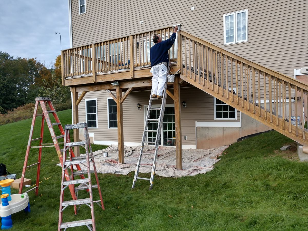 Deck Painting in North Haven, CT